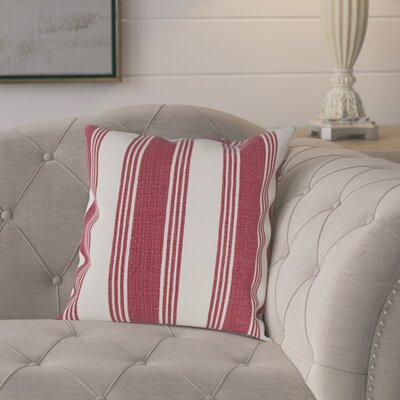 Elencourt 100% Cotton Throw Pillow Cover Size: 18 H x 18 W x 0.25 D, Color: RedNeutral