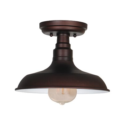 Stephine 1-Light Semi Flush Mount Finish: Coffee Bronze
