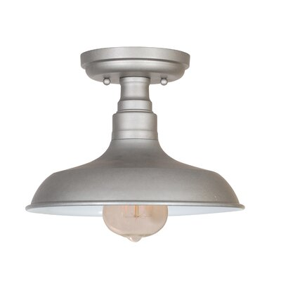 Stephine 1-Light Semi Flush Mount Finish: Galvanized Steel