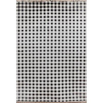 Delacruz Ivory/Charcoal Area Rug Rug Size: 710 x 112