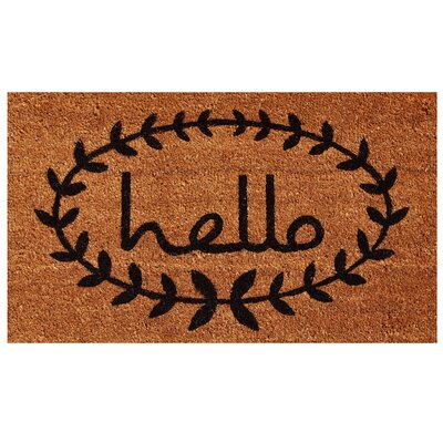 Sulema Hello Doormat Mat Size: Rectangle 15 x 25