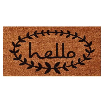 Sulema Hello Doormat Rug Size: Rectangle 26 x 4