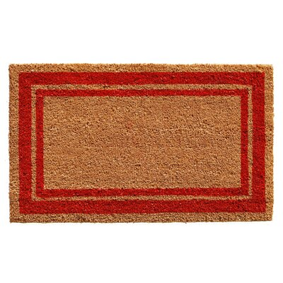 Sumiko Border Doormat Mat Size: Rectangle 2 x 3, Color: Red