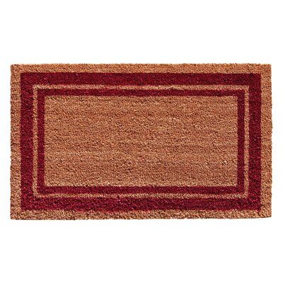 Sumiko Border Doormat Rug Size: Rectangle 16 x 26, Color: Burgundy