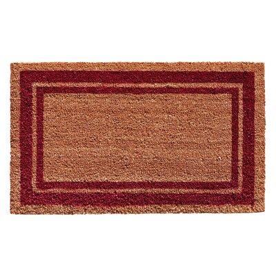 Sumiko Border Doormat Rug Size: 2 x 3, Color: Burgundy