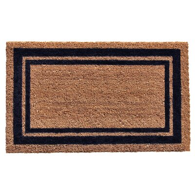 Sumiko Border Doormat Rug Size: Rectangle 16 x 26, Color: Dark Blue