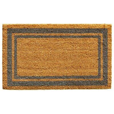 Sumiko Border Doormat Rug Size: Rectangle 16 x 26, Color: Perwinkle