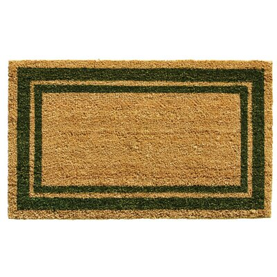 Sumiko Border Doormat Mat Size: Rectangle 16 x 26, Color: Sage Green