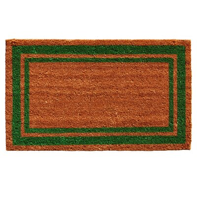 Sumiko Border Doormat Rug Size: Rectangle 16 x 26, Color: Green