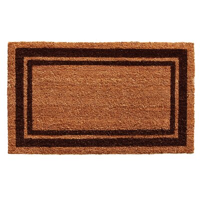 Sumiko Border Doormat Mat Size: Rectangle 2 x 3, Color: Brown