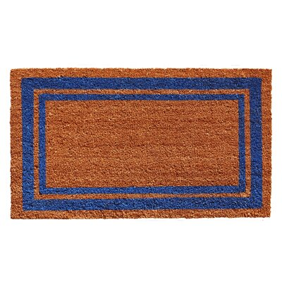 Sumiko Border Doormat Mat Size: Rectangle 16 x 26, Color: Blue