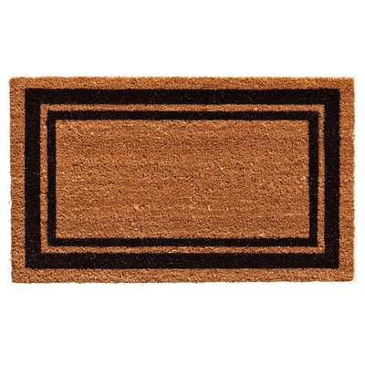 Sumiko Border Doormat Mat Size: Rectangle 2 x 3, Color: Black