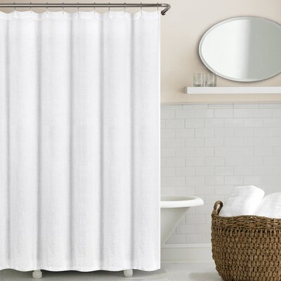 Sunni Shower Curtain Color: Eggshell White