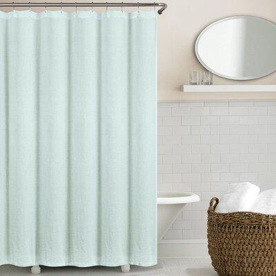 Sunni Shower Curtain Color: Seafoam