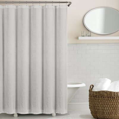 Sunni Shower Curtain Color: Silver