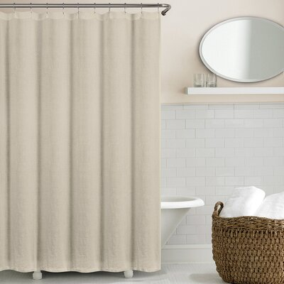 Sunni Shower Curtain Color: Stone