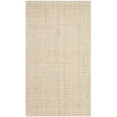 Muriel Hand-Woven Ivory Area Rug Rug Size: Rectangle 5 x 8