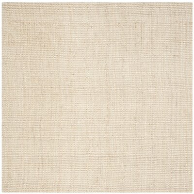 Muriel Hand-Woven Ivory Area Rug Rug Size: Square 7