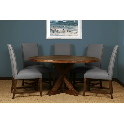 Sydney 6 Piece Dining Set Upholstery: Gray, Finish: Gray