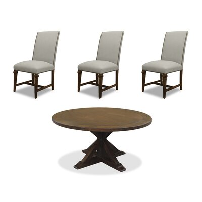 Sydney 6 Piece Dining Set Upholstery: Sand, Finish: Gray