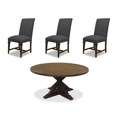 Sydney 6 Piece Dining Set Upholstery: Charcoal, Finish: Cognac