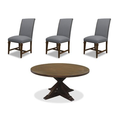 Sydney 6 Piece Dining Set Upholstery: Gray, Finish: Cognac