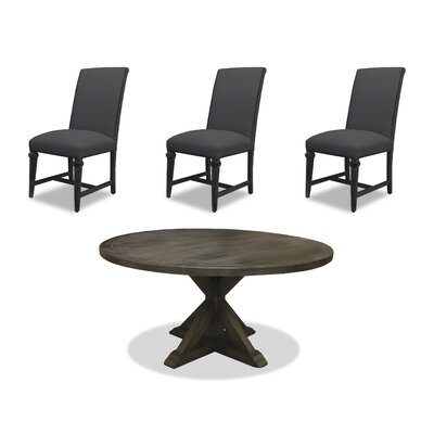 Sydney 6 Piece Dining Set Upholstery: Charcoal, Finish: Gray