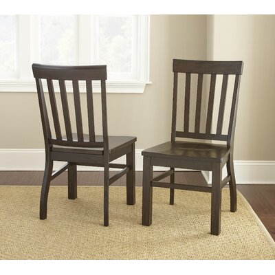 Grant Dining Side Chair (Set of 2) Chair Finish: Dark Oak