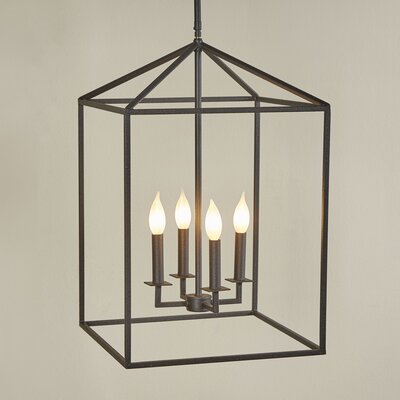 Odie 4-Light Foyer Pendant Size: 18.5 H x 12 W x 12 D
