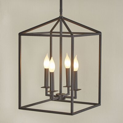 Odie 4-Light Foyer Pendant Size: 23.25 H x 16 W x 16 D