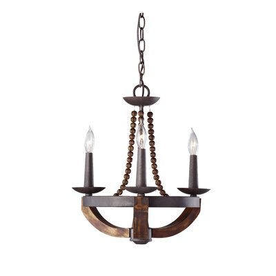 Sylvie 3-Light Candle-Style Chandelier