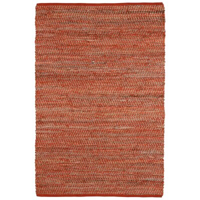 Synthia Orange Area Rug Rug Size: 9 x 12