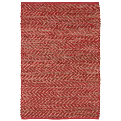 Synthia Red Area Rug Rug Size: 8 x 10