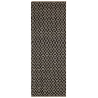 Synthia Hand-Woven Brown Area Rug Rug Size: Runner 26 x 12