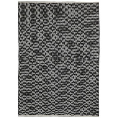 Synthia Hand-Woven Black Area Rug Rug Size: 3 x 5