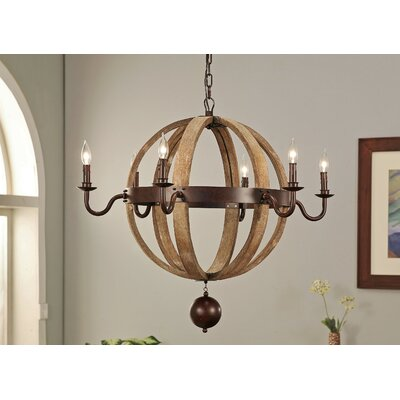 Iris 6-Light Candle-Style Chandelier