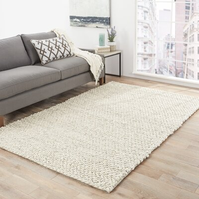 Gertrude Ivory/Gray Rug Rug Size: Rectangle 2' x 3'