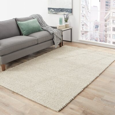 Gertrude Wool Oyster Gray Area Rug Rug Size: Rectangle 8 x 10