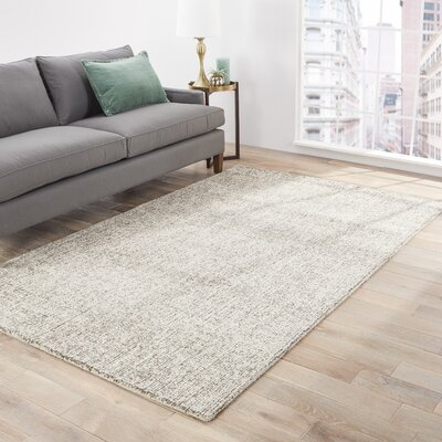 California Bay Solid Ivory/Gray Area Rug Rug Size: 5 x 8