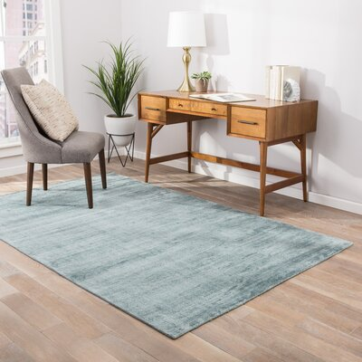 Geff Hand-Loomed Blue Area Rug Rug Size: Rectangle 5 x 8
