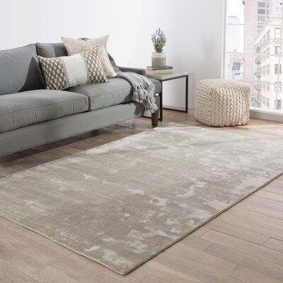 Geff Hand-Loomed Gray Area Rug Rug Size: Rectangle 9 x 12