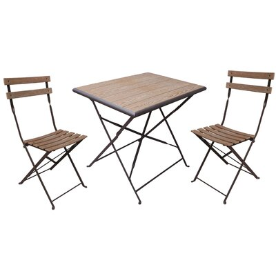Pensee Folding 3 Piece Bistro Set