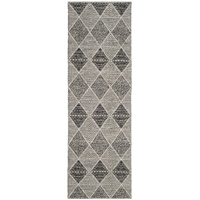 Oxbow Hand-Woven Black Area Rug Rug Size: Runner 23 x 7