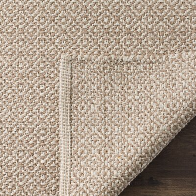 Oxbow Hand-Woven Ivory/Beige Area Rug Rug Size: Round 6