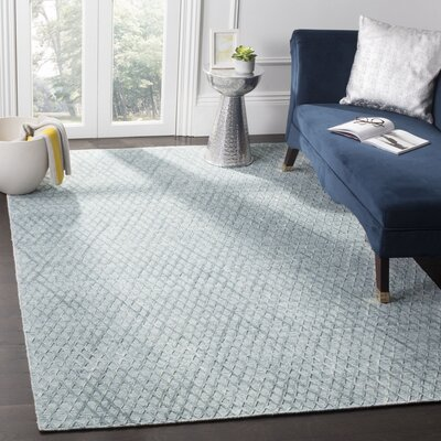 Jessup Hand-Woven Indigo Area Rug Rug Size: Rectangle 8 x 10