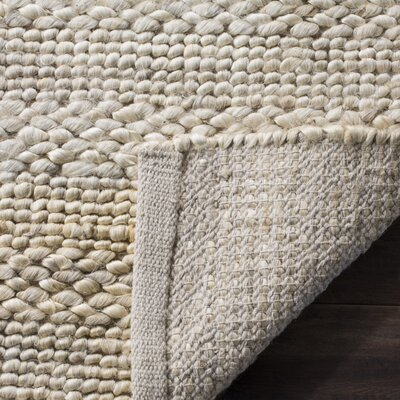 Eco-Smart Hand-Woven Bleach Area Rug Rug Size: Round 6