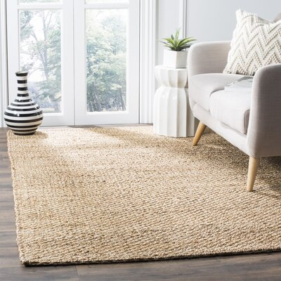Tiffany Hand-Woven Natural Area Rug Rug Size: Square 6 x 6