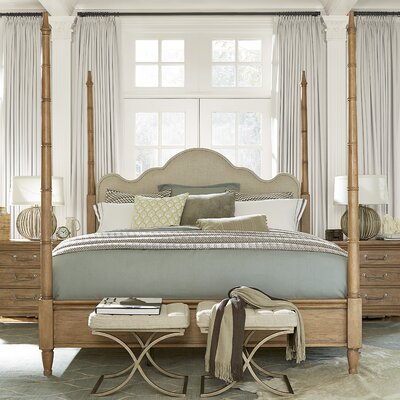 Hazeltine Upholstered Four Poster Bed