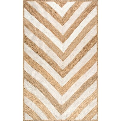 Cassandra Hand-Woven Natural Area Rug Rug Size: Rectangle 5 x 8