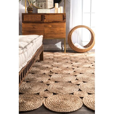 Caroline Hand-Woven Natural Area Rug Rug Size: Rectangle 5 x 8
